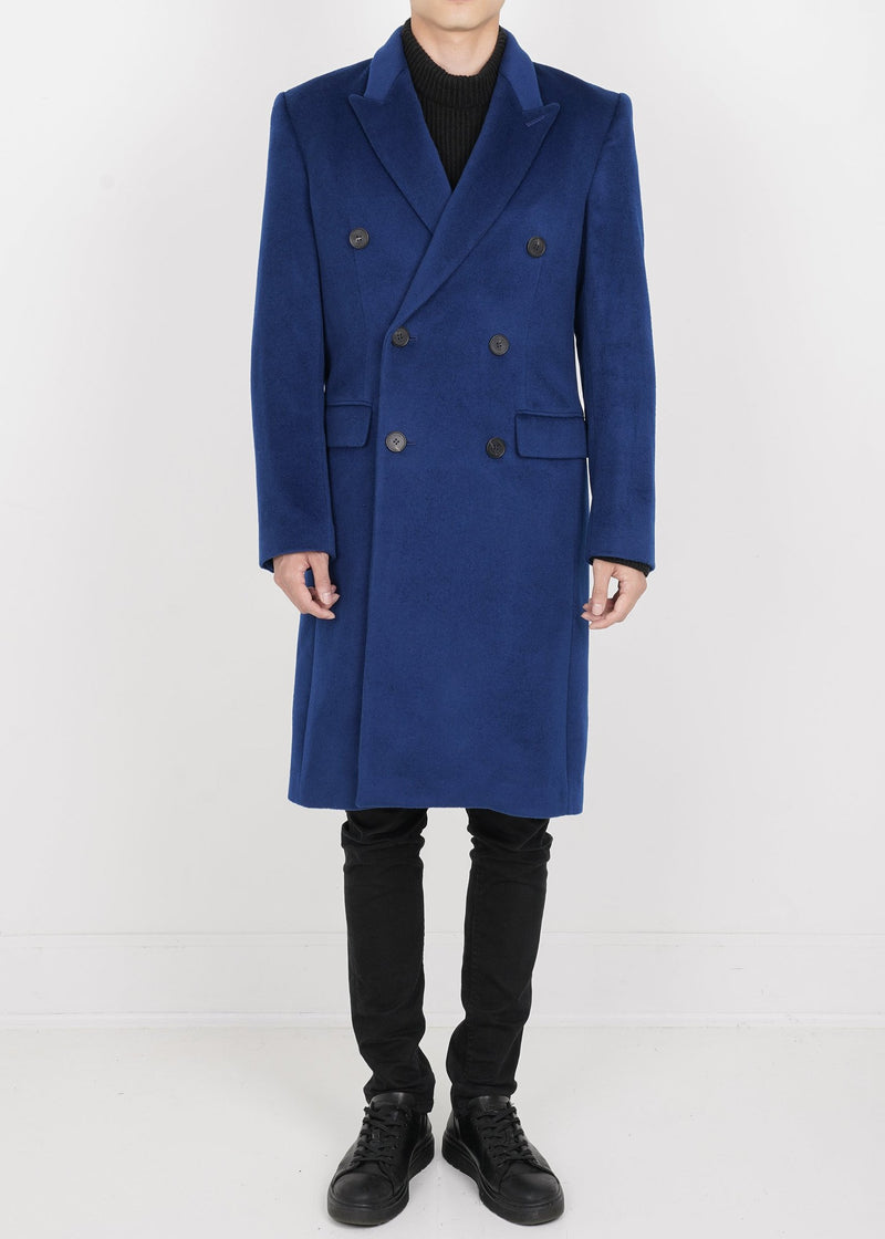 Lambs Wool Double Coat - Deep Blue