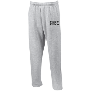 GIHSO Open Bottom Sweatpants with Pockets