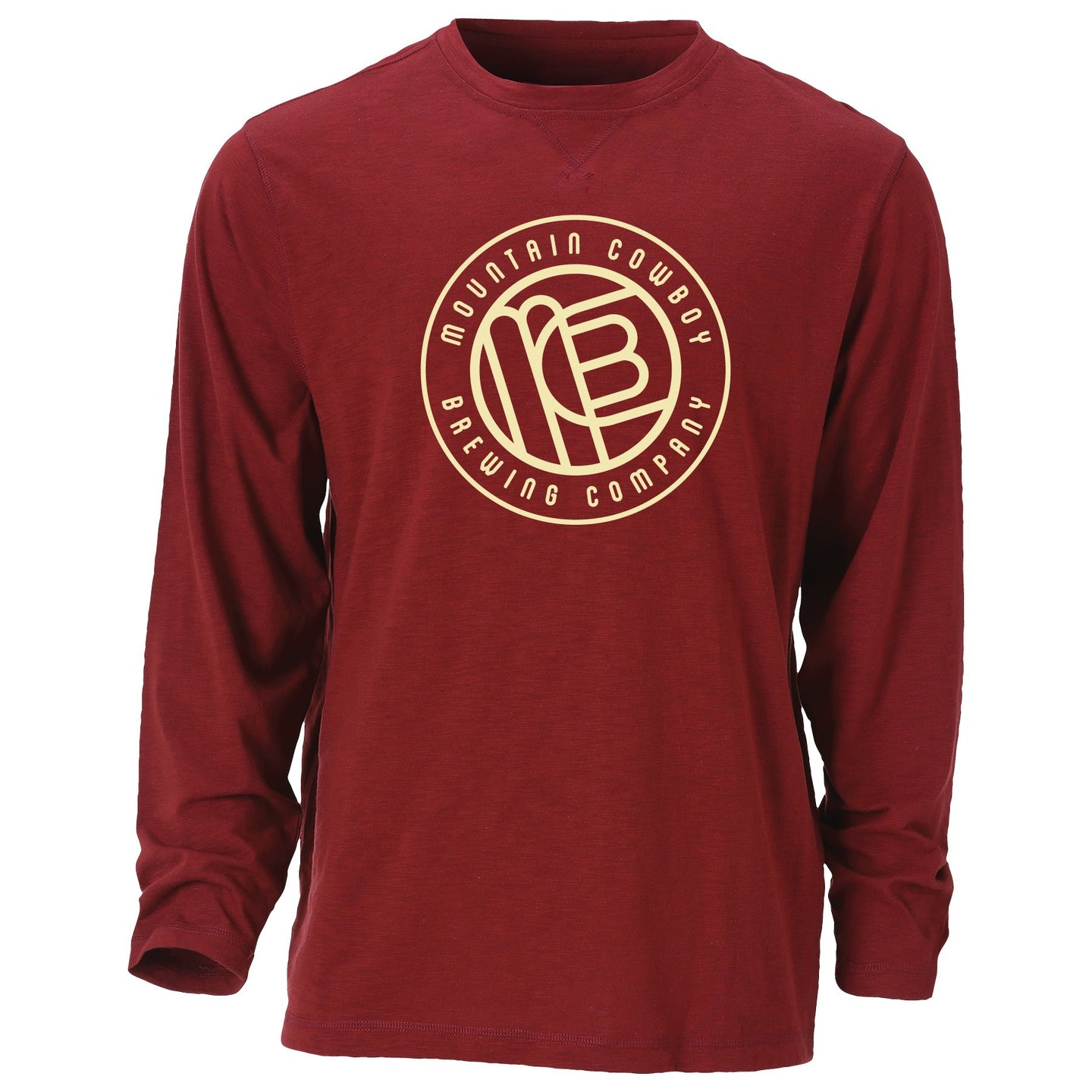 Men's Slub Crew L/S T-Shirt with Circle Logo