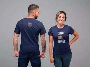 Women's Short-Sleeve Coffee, Beer, Repeat T-Shirt