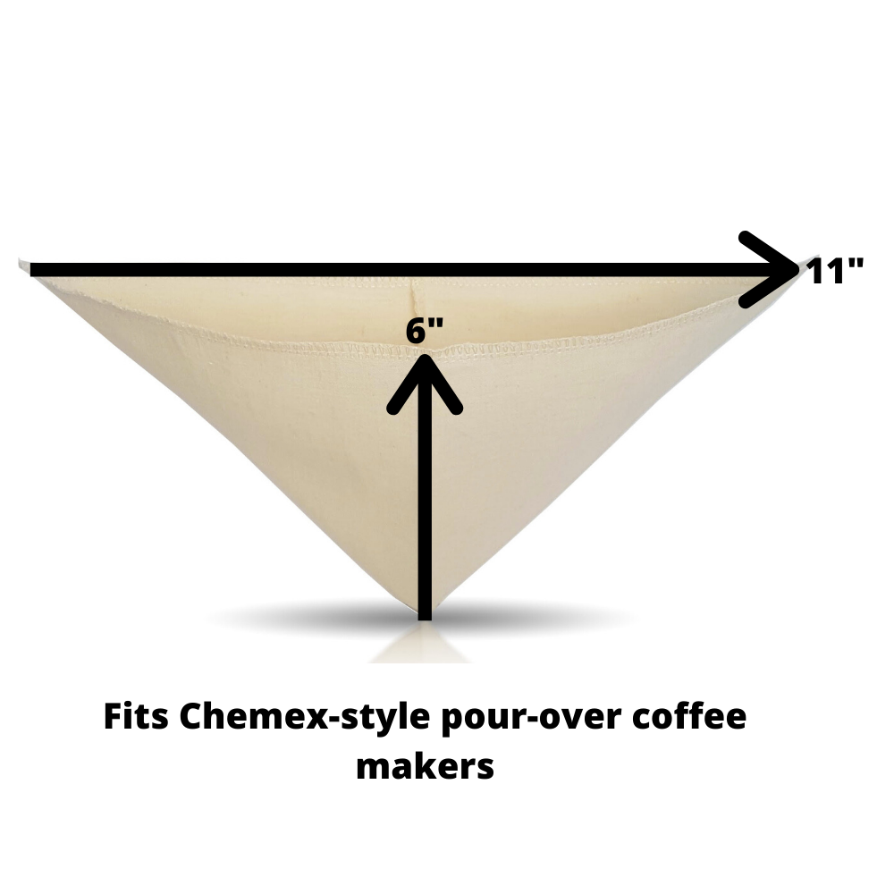 Pour-Over Style Cloth Coffee Filter