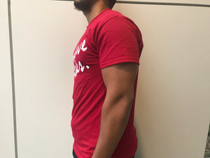 "Light Maroon ""Positive Vibes"" Short Sleeve T-Shirt"