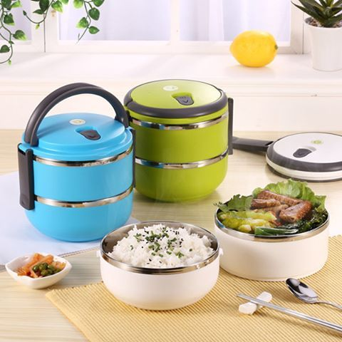 2 Layers Thermal Insulation Bento Lunch Box