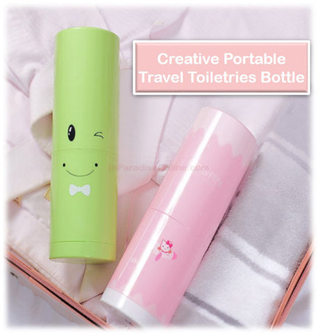 5 in 1 Creative Portable Travel Toiletries Bottle