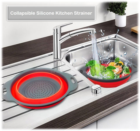 Collapsible Silicone Kitchen Strainer