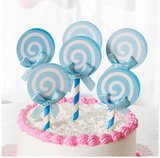 Lollipop Swirl Stripe Cupcake Topper