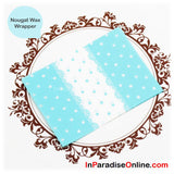 Blue Polka Dots Nougats Wax Paper Wrapper