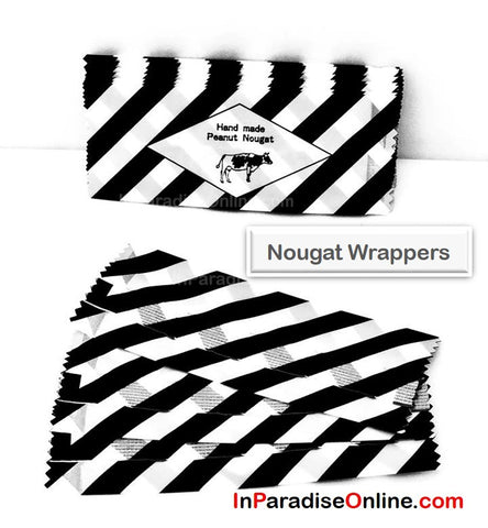 Black & White Nougat Candy Wrappers