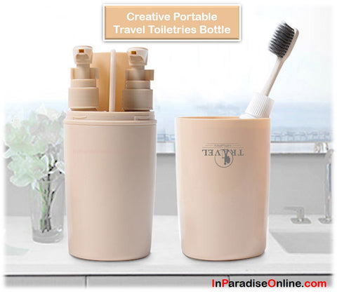4 in 1 Creative Portable Travel Toiletries Bottle