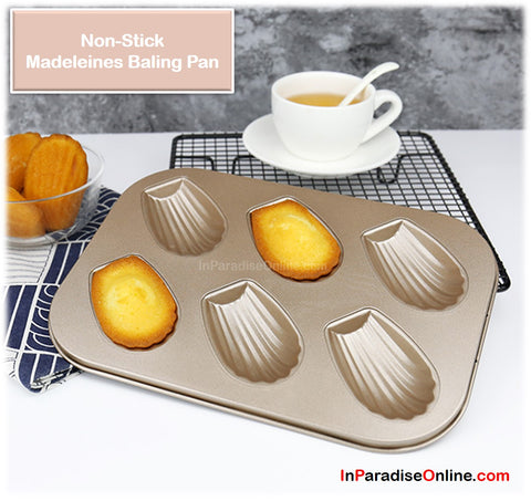 6 Cavities Non-Stick Madeleines Baking Pan