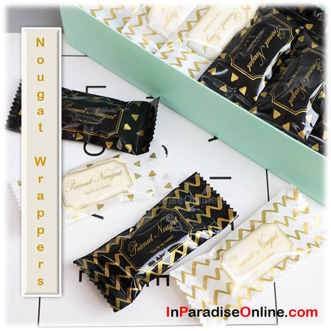 Gold White Nougat Candy Wrappers