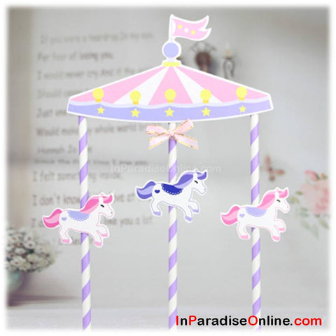 Unicorn Bunting Cake Topper