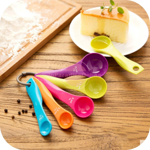 Multi-Color Measuring Spoon Set of 5