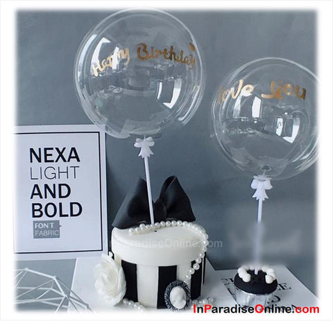 "5"" Mini Bubble Balloon Cake Topper - Love You"