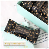 Gold & Black Nougat Candy Wrappers