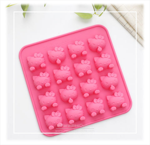 16 Cavities Cute Kitty Silicone Mold
