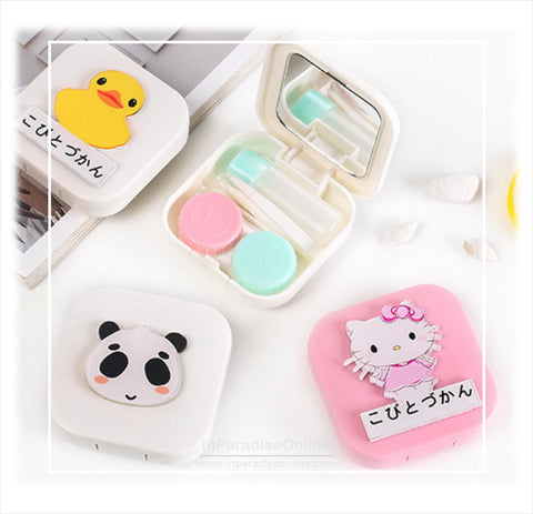 Pocket Contact Lens Travel Case With Mirror