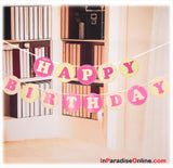 Happy Birthday Bunting Pink & White