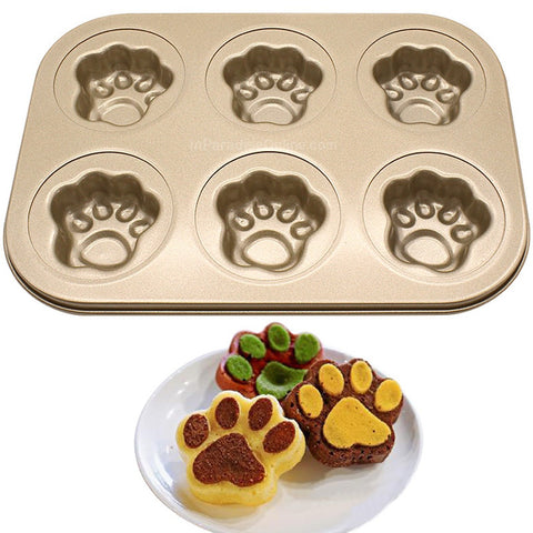 Non-Stick Kitty Paw Shaped Baking Pan