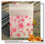 """Sakura"" Self Adhesive Cookie Plastic Bag"