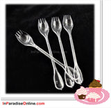 Clear Disposable Serving Spork  (4 Tines)