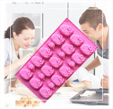 16 Cavities Cute Bakery Silicone Mold