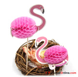 Pink Flamingo Honeycomb Cake Topper