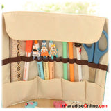 Japanese Roll-Up Pencil & Cosmetic Storage Case