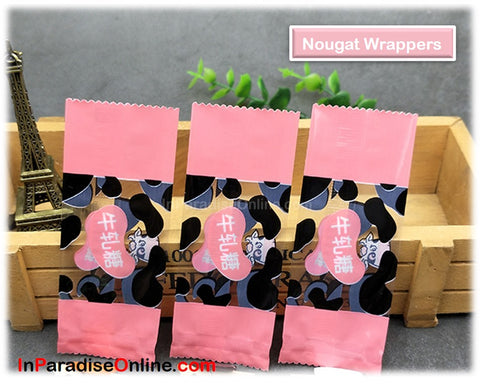 Sweet Pink Nougat Candy Wrappers