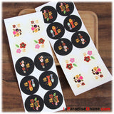 Japanese Style Fortune Stickers
