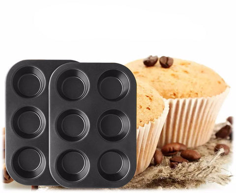 6 Cups Non-Stick Stainless Steel Muffin Cake Baking Pan