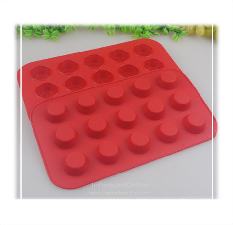 15 Cavities Mini Muffin Silicone Mold