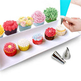 Silicone Cream Pastry Bag with Stainless Steel Nozzle