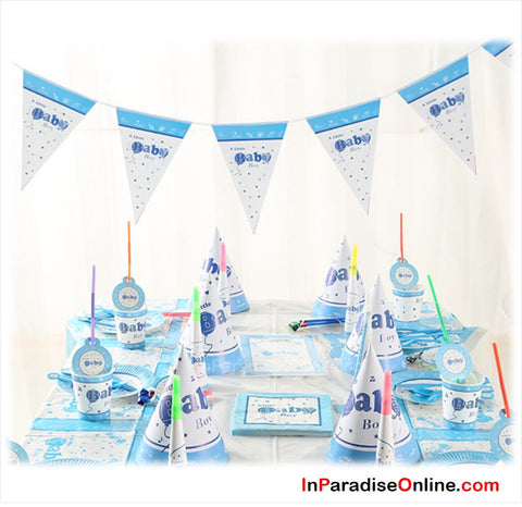 A Litter Baby Boy Bunting Banners