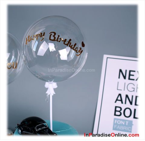 "5"" Mini Bubble Balloon Cake Topper - Happy Birthday"