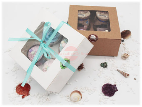 Window Cupcake Box With 4 Cavity Insert