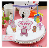 Marry Me Bunting Cake Topper
