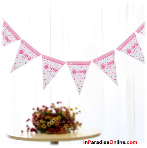A Litter Baby Girl Bunting Banners