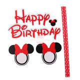 "Disney ""Minnie"" Red Bunting Cake Topper"