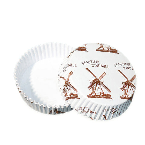 Round Windmill Cupcake Liners