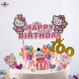"Pink ""Hello Kitty"" Bunting Cake Topper"