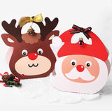 Santa Claus And Reindeer Candy & Cookie Paper Boxes