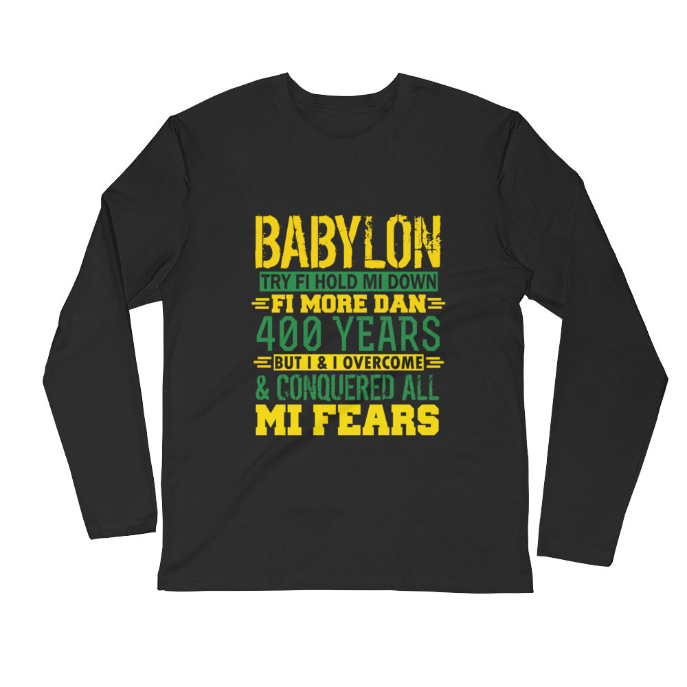 BABYLON Try ...Long Sleeve Fitted Crew