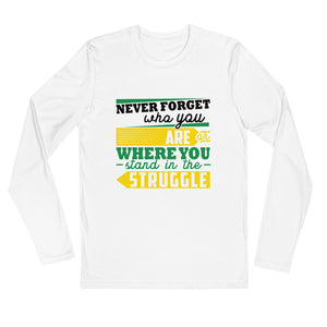 Never Forget...Long Sleeve Fitted Crew
