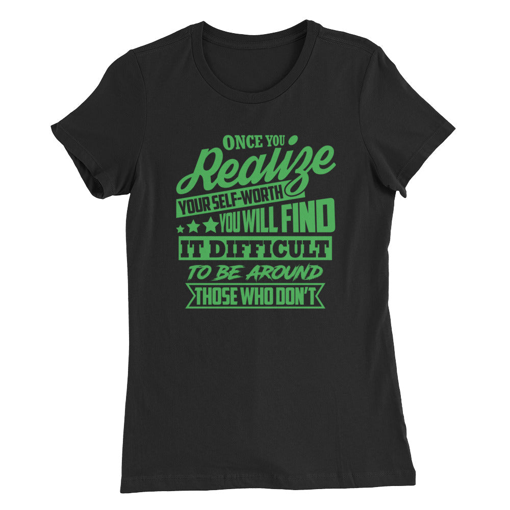 Realize....Bella + Canvas 6004 Women's The Favorite Tee with Tear Away Label