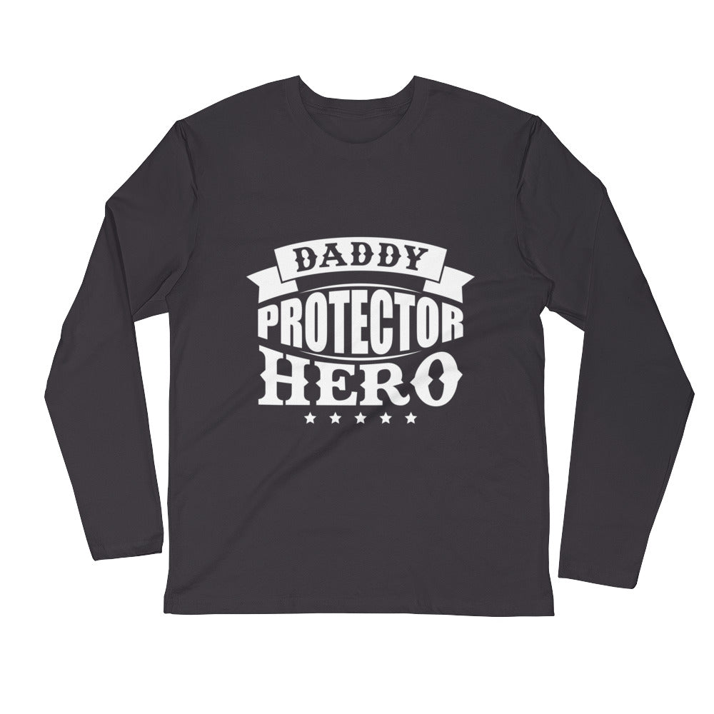 Daddy....Long Sleeve Fitted Crew