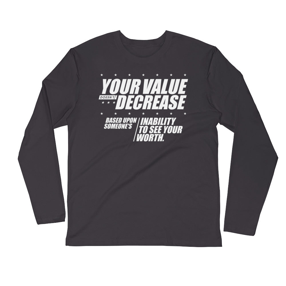 Your Value...Long Sleeve Fitted Crew