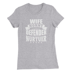 Wife Mommy....Bella + Canvas 6004 Women's The Favorite Tee with Tear Away Label