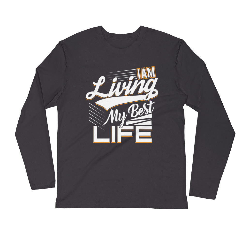 I AM Living...Long Sleeve Fitted Crew