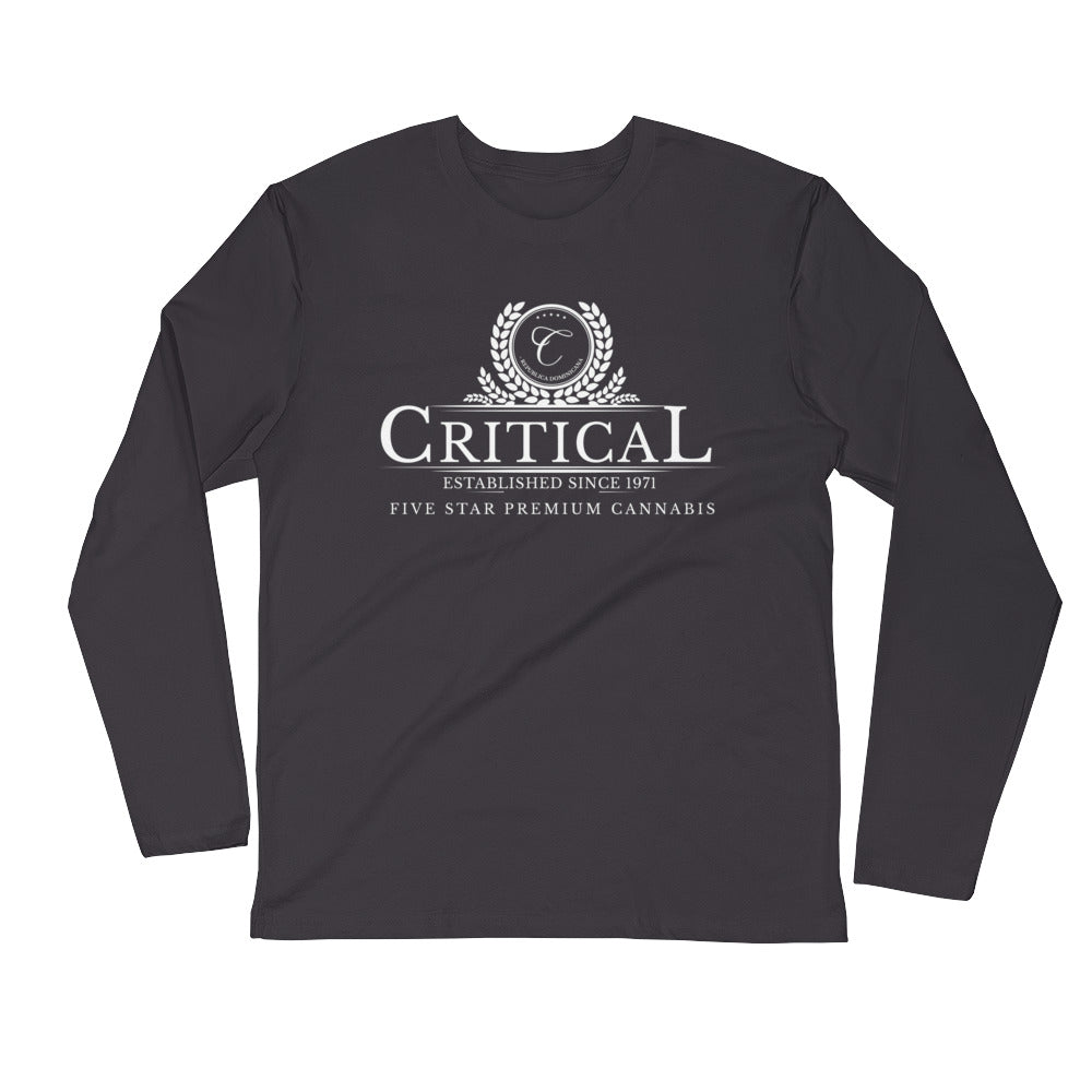 Critical Cannabis...Long Sleeve Fitted Crew